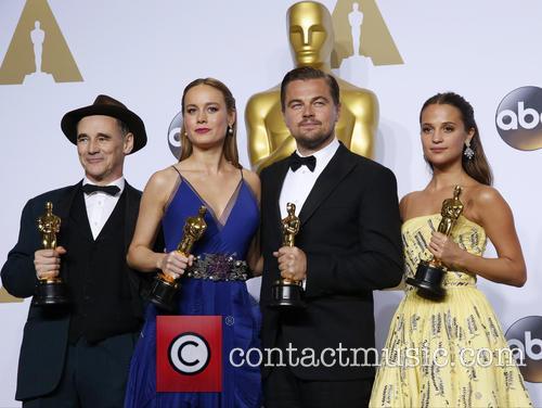 Mark Rylance, Brie Larson, Leonardo Dicaprio and Alicia Vikander 2
