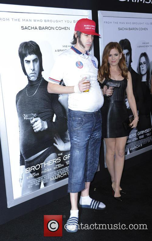 Sacha Baron and Isla Fisher