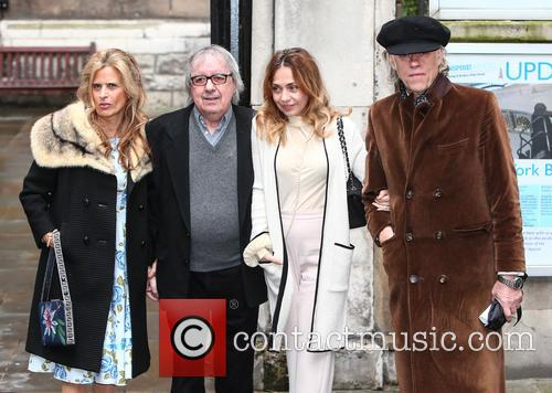 Suzanne Accosta, Bill Wyman, Jeanne Marine and Bob Geldof 1