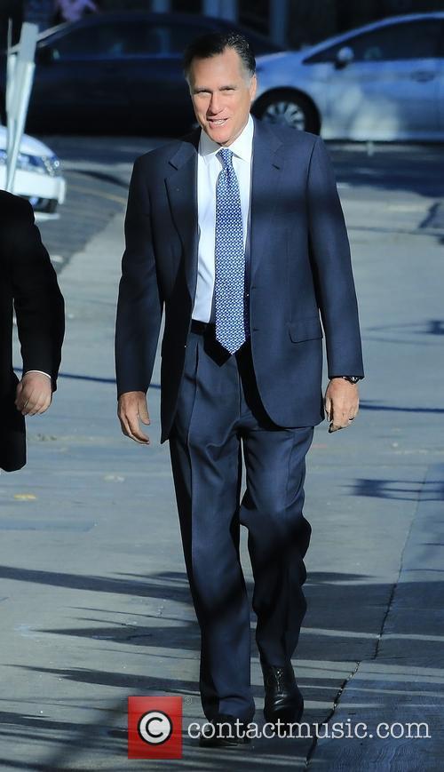 Jimmy Kimmel and Mitt Romney