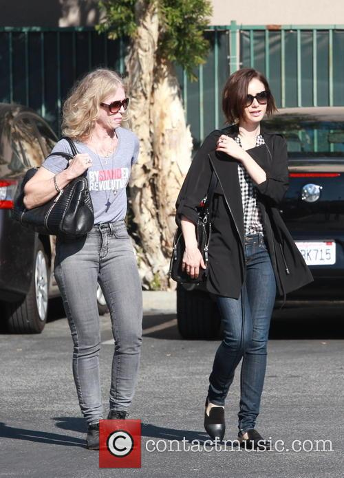 Lily Collins and Jill Tavelman 2