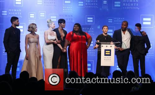 Jussie Smollett, Serayah, Kaitlin Doubleday, Ta'rhonda Jones, Gabourey Sidibe, Ilene Chaiken, Lee Daniels and Bryshere 'yazz' Gray 9