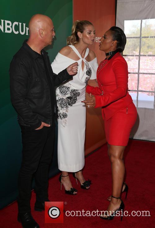Mel B, Howie Mandel and Heidi Klum 1