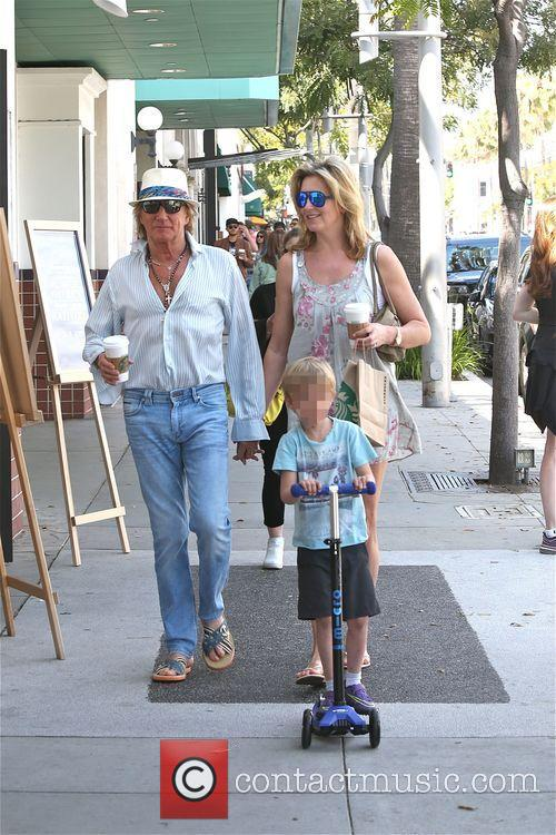 Rod Stewart, Penny Lancaster and Aiden Stewart