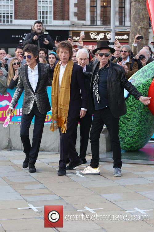 Rolling Stones, Ronnie Wood, Mick Jagger and Charlie Watts 6