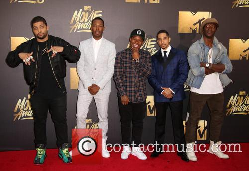 O'shea Jackson Jr., Corey Hawkins, Jason Mitchell, Neil Brown Jr. and Aldis Hodge