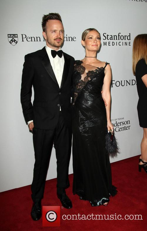 Aaron Paul and Wife Lauren Parsekian 2