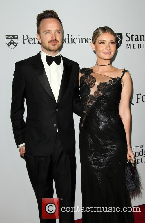 Aaron Paul and Wife Lauren Parsekian 3
