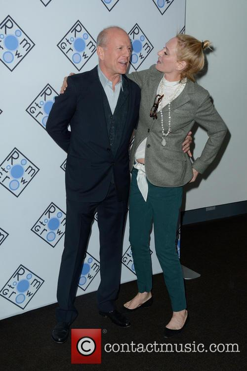 Bruce Willis and Uma Thurman