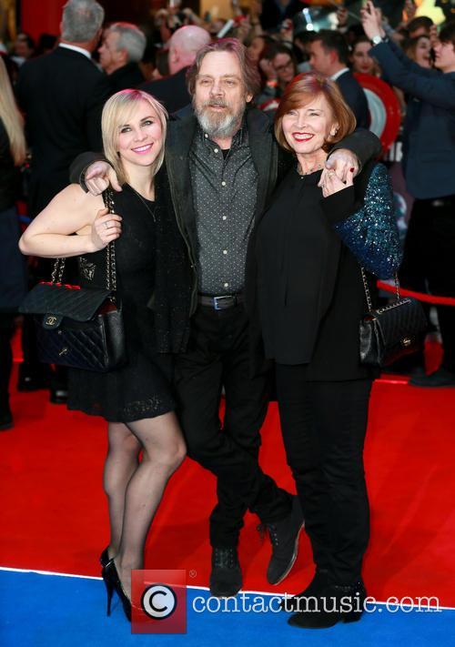Chelsea Hamill, Mark Hamill and Marilou York