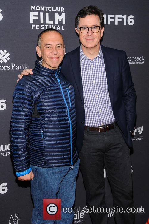 Gilbert Gottfried and Stephen Colbert