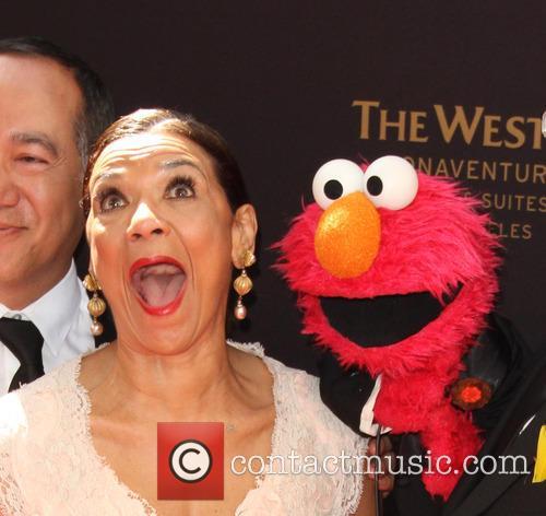 Sonia Manzano and Elmo