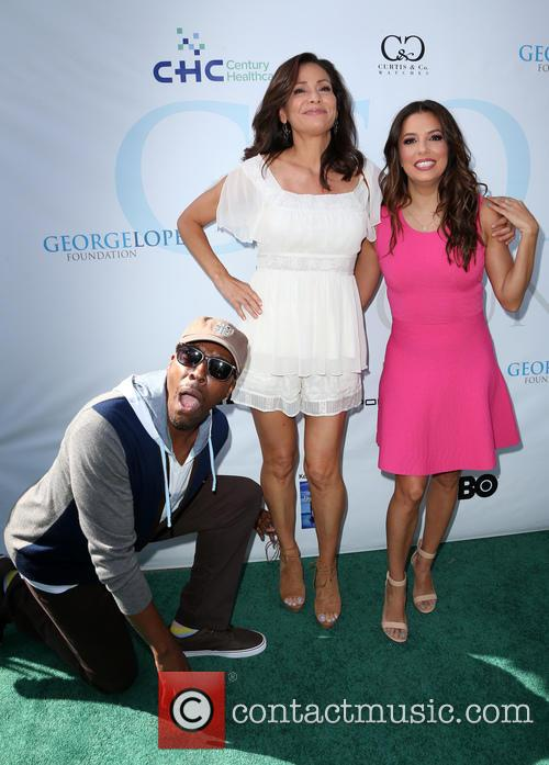 Arsenio Hall, Constance Marie and Eva Longoria 8