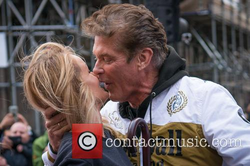 Hayley Roberts and David Hasselhoff 2