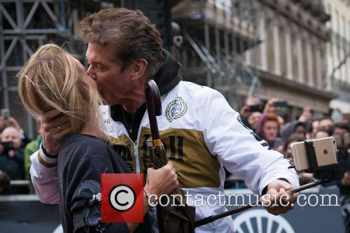 Hayley Roberts and David Hasselhoff 3