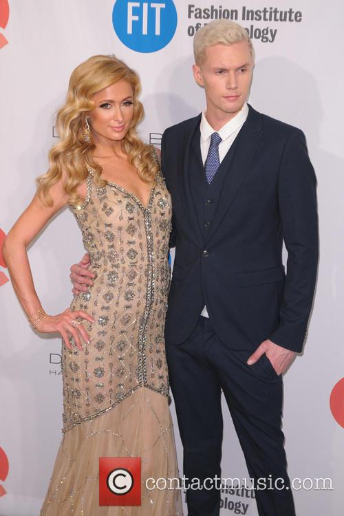 Paris Hilton and Barron Hilton