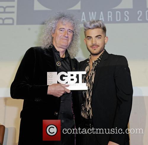 Adam Lambert and Brian May 2