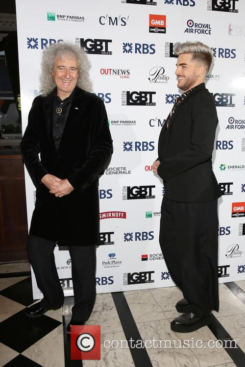 Brian May and Adam Lambert 2