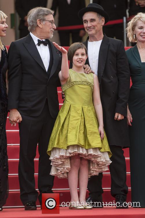 Steven Spielberg, Ruby Barnhill and Mark Rylance 1