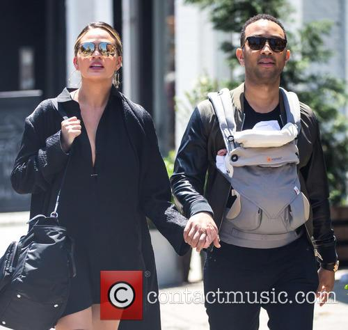 Chrissy Teigen, John Legend and Luna Simone Stephens 4