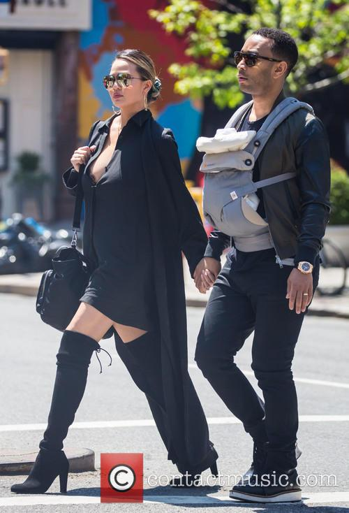 Chrissy Teigen, John Legend and Luna Simone Stephens 9