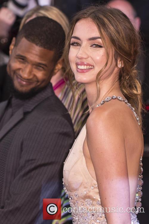 Usher Raymond and Ana De Armas