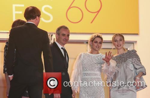 Olivier Assayas, Kristen Stewart and Nora Von Waldstaetten