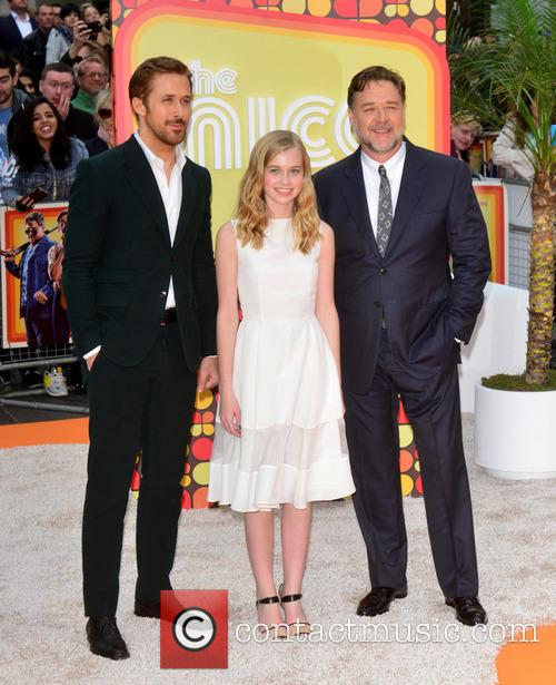 Russell Crowe, Ryan Gosling and Angourie Rice 1