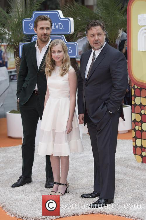 Ryan Gosling, Angourie Rice and Russell Crowe 11