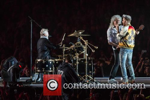 Adam Lambert, Brian May and Roger Taylor 5