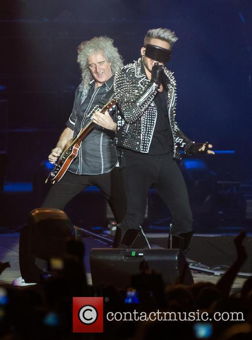 Adam Lambert and Brian May 9