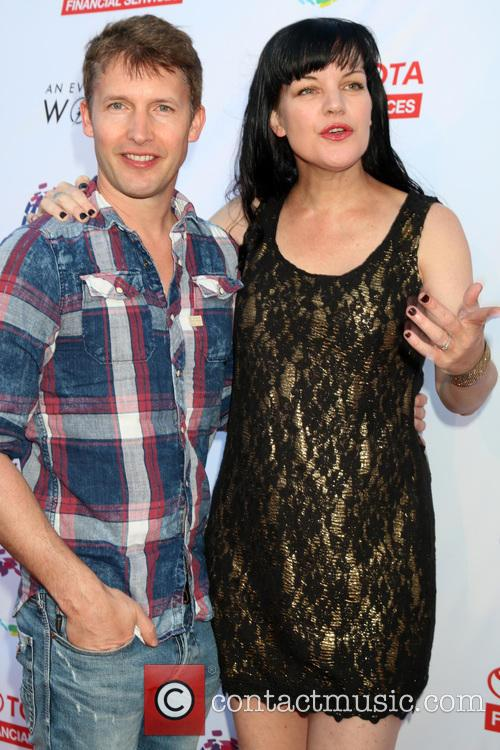 James Blunt and Pauley Perrette