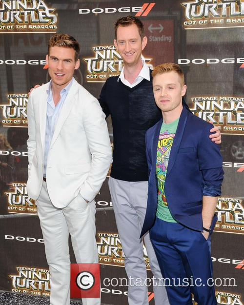 Pete Ploszek, Jeremy Howard and Noel Fisher