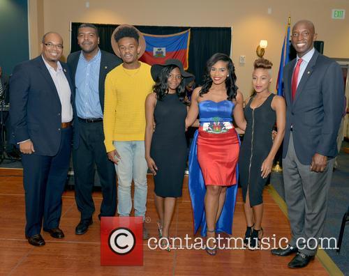 Justice, Haiti Minister Of Tourism Guy Didier Hyppolite, Haiti Counsul Guy Francois Jr., Marnino Toussaint, Hillary Nomes, Saskya Sky and City Of Miramar Mayor Wayne Messam 3