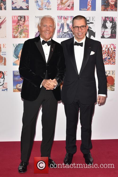 Giorgio Armani and Guest