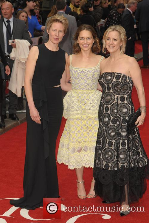 Emilia Clarke, Thea Sharrock and Jojo Moyes 5