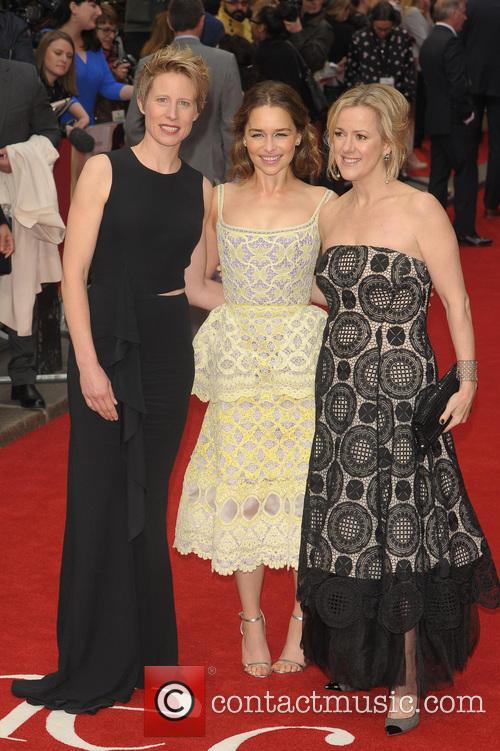 Emilia Clarke, Thea Sharrock and Jojo Moyes 6