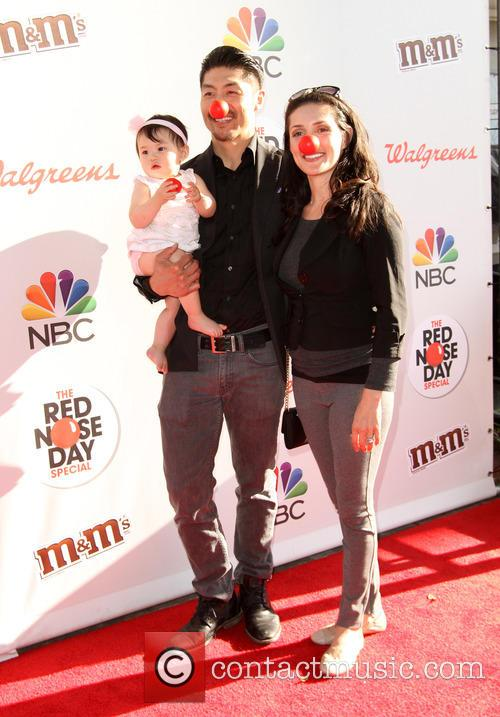 Brian Tee, Wife Mirelly Taylor and Daughter Madelyn Skyler