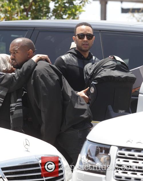 Kim Kardashian, Kanye West, Chrissy Teigen and John Legend 7