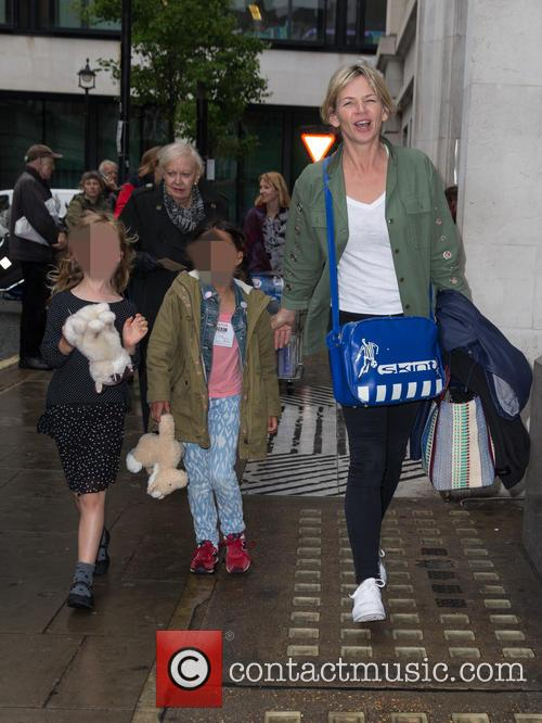 Zoe Ball, Nelly May Lois Cook and Woody Fred Cook 1