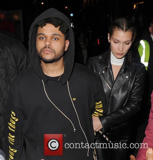 Bella Hadid, The Weeknd and Abęl Makkonen Tesfaye 11