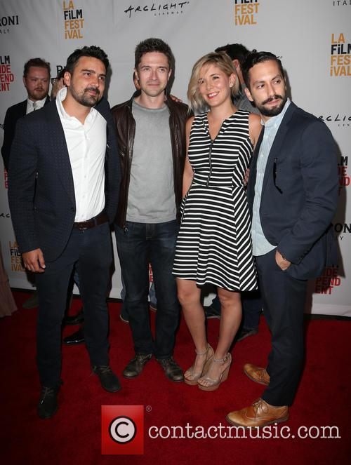 Daniel Posada, Topher Grace, Samantha Castellano and Jason Tamasco 3