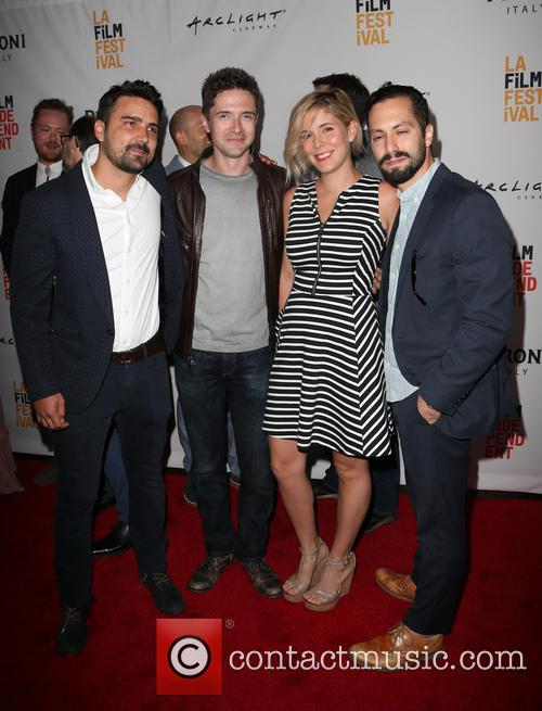 Daniel Posada, Topher Grace, Samantha Castellano and Jason Tamasco 4