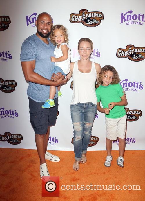 Hank Baskett, Kendra Wilkinson and Alijah Mary Baskett 3