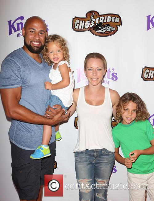 Hank Baskett, Kendra Wilkinson and Alijah Mary Baskett 4