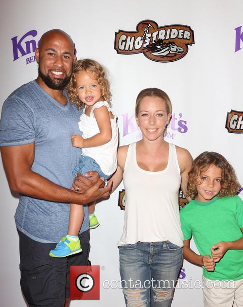 Hank Baskett, Kendra Wilkinson and Alijah Mary Baskett 5