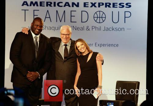 Shaquille O'neal, Phil Jackson and Hannah Storm