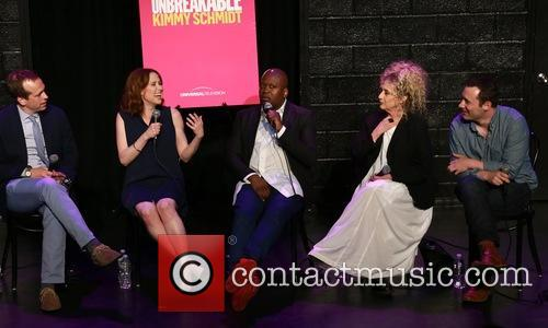 Robert Carlock, Ellie Kemper, Tituss Burgess and Carol Kane