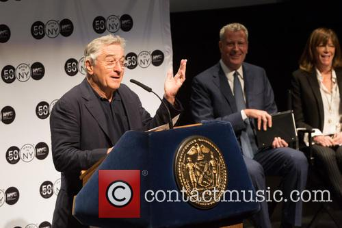 Robert De Niro, Bill De Blasio and Jane Rosenthal