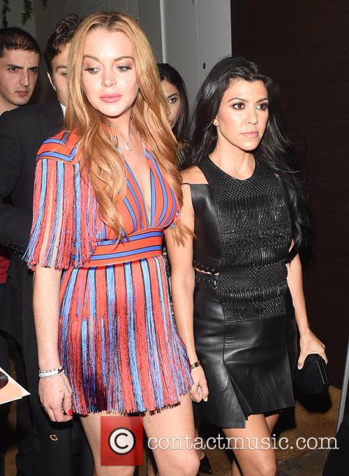 Kourtney Kardashian and Lindsay Lohan 5